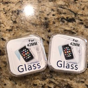 2- Tempered Glass covers  **42MM** IWATCH